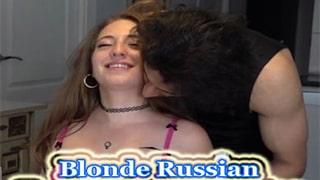 Blonde Russian Tourist In Goa